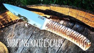 Knife Making Shaping knife scale