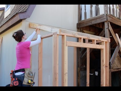 How to Build a Lean To - Framing and Adding Siding (Part 1)