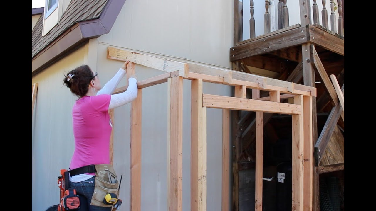 How To Build A Lean To Framing And Adding Siding Part 1