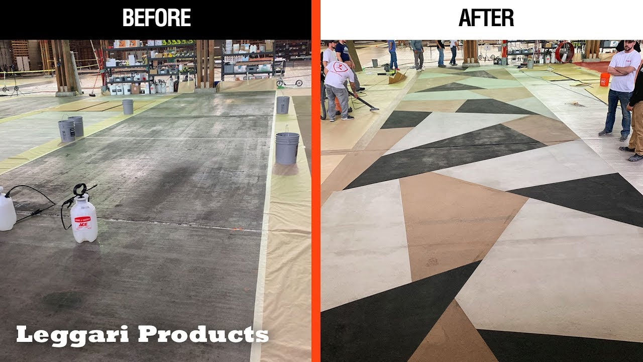 Repair Concrete Floor Using Leggari's Concrete Overlay