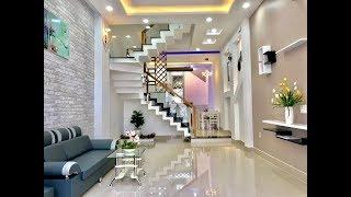 Cặp Nhà phố DT 4x15m ,Thiết kế 3 lầu , sang trọng , trẻ trung và đầy phong cách . #bannhagovap