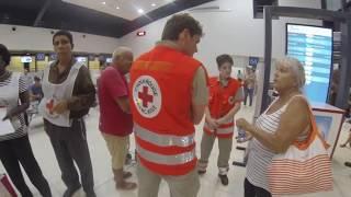 Arrivée des premiers sinistrés de l'Ouragan Irma