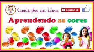 vídeo infantil educativo e colorido -  Aprender as cores em inglês e As cores em Português