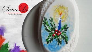 Neste vídeo vou ensinar a pintar uma Vela Natalina em sabonete