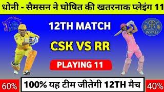 IPL 2021 : Csk Vs Rr 2021 Playing 11 || Chennai Super Kings Vs Rajasthan Royals 2021 Prediction