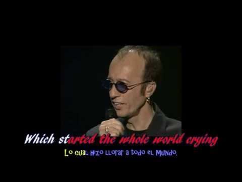 Bee Gees   I started a joke Ingles Español