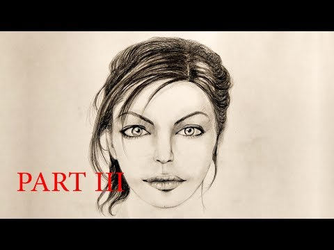 How to Draw a Beautiful Female Face Final (Part 3)