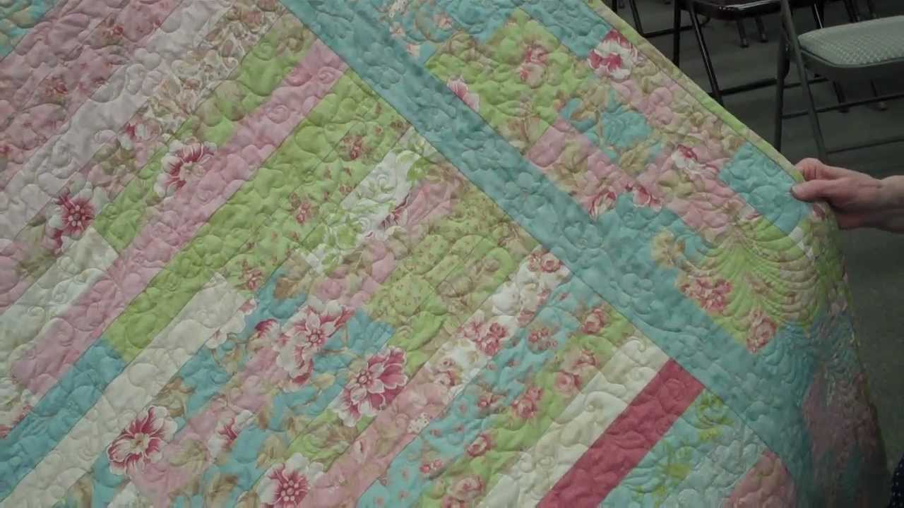 My Impromptu Jelly Roll Quilt Youtube
