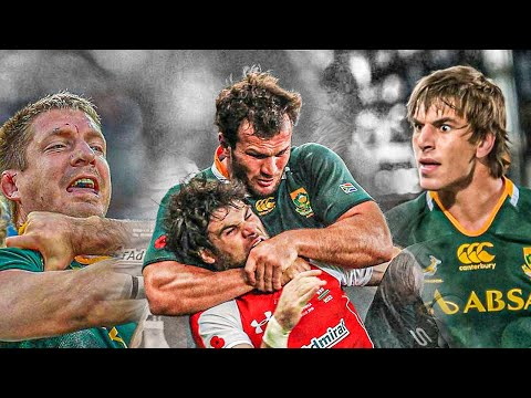 Feared For Their Aggression | The Most Brutal Springbok Rugby Players Ever | Big Hits & Aggression |