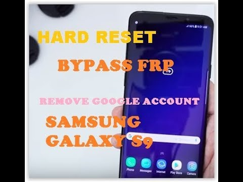 How to Hard Reset and Bypass FRP Remove Google Account Samsung Galaxy S9 |  S9 Plus by Tech's Guide