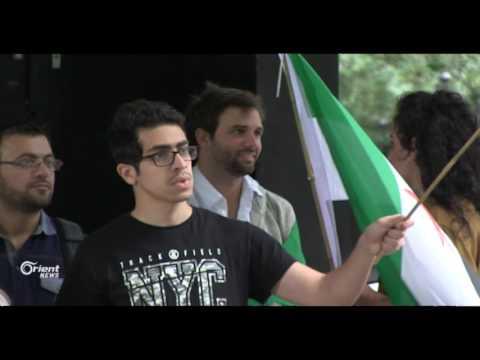 عشرات النشظاء يتظاهرون أمام السفارة الروسية في لندن لأجل درعا  - 15:21-2017 / 6 / 26
