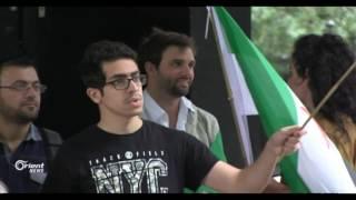 عشرات النشظاء يتظاهرون أمام السفارة الروسية في لندن لأجل درعا