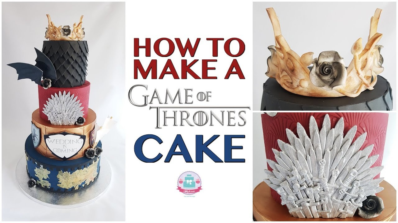 HOW TO MAKE A GAME OF THRONES CAKE | Abbyliciousz The Cake Boutique ...