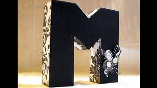 Объемная буква М своими руками *DIY*