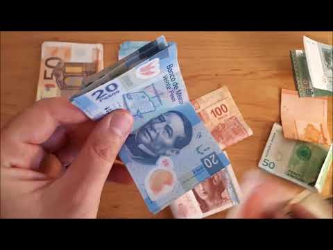 Repeat ASMR - Counting Money | Sorting Foreign Money | No