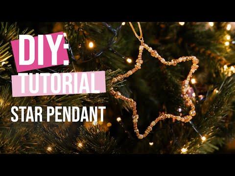 DIY Tutorial: Creating a Christmas star pendant