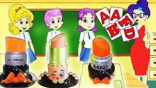 ✅Bubbles Guppies The Funny Story - Make A Lipstick Cake |Zilo MLP Funs