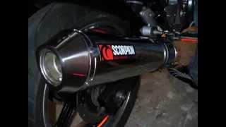 cbf 500 scorpion auspuff exhaust