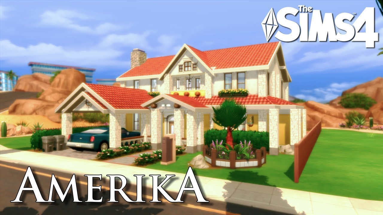 Hermosa casa americana sims 4 american house speed for Sims 4 piani di casa