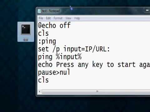 Batch   How to make a program that automaticly pings an IP/URL
