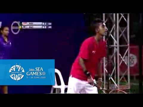Tennis Men's Team Quarter Finals Match 3 (Day 2)   28th SEA Games Singapore 2015