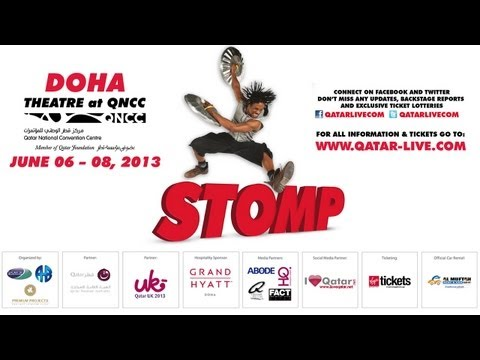 STOMP Live in Doha! 6 - 8 June at QNCC - Presented by The Art of Business & Premium Projects