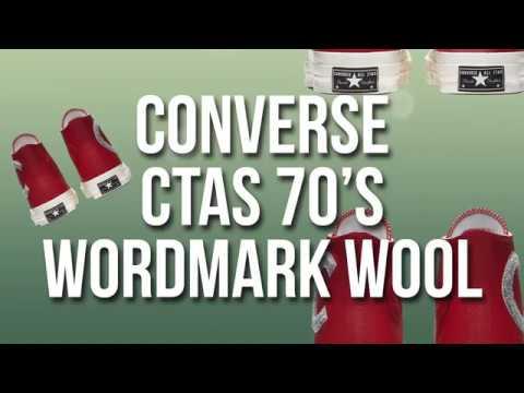 Video Converse Chuck Taylor All Star 70 Wordmark Wool - YouTube 77776561f66e