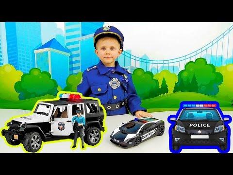 ПОЛИЦЕЙСКИЕ МАШИНКИ. Много машинок для детей. Детское видео про машинки. POLICE CARS for Kids