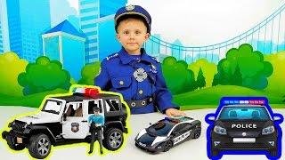 ПОЛИЦЕЙСКИЕ МАШИНКИ. Много машинок для детей. Детское видео про машинки. POLICE CARS for Kids(Даник очень любит играть с разными полицейскими машинками, он от них в восторге. Мы решили сделать этот..., 2016-09-18T06:00:00.000Z)