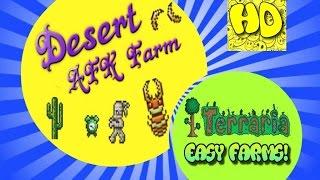 Terraria Easy AFK Desert Farm | Fast Clock | Antlion Farm