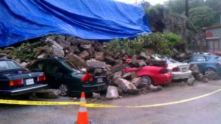 Ellicott City - Wall collapse at public parking