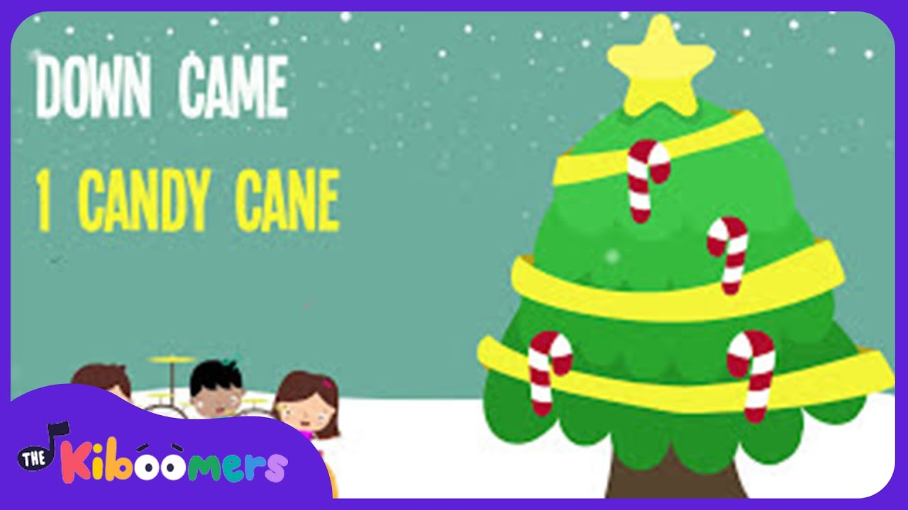 five candy canes kids christmas songs lyrics kids christmas