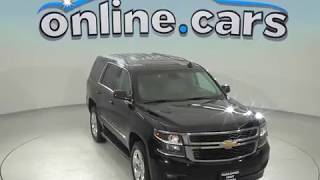 G97768JA Used 2015 Chevrolet Tahoe LT 4WD SUV Black Test Drive, Review, For Sale