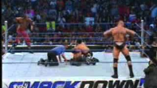 Brock Lesnar And Tajiri vs Edge and Rey Mysterio