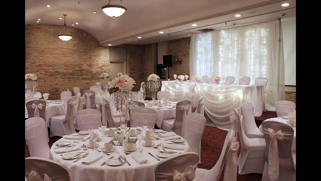 Beautiful Elegant White Wedding Decor