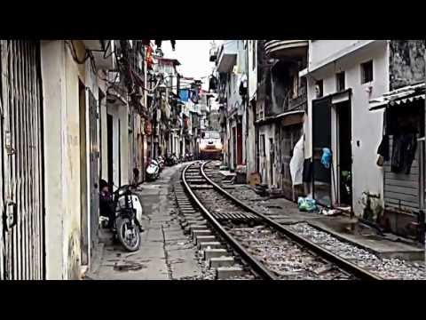 Train coming close to homes