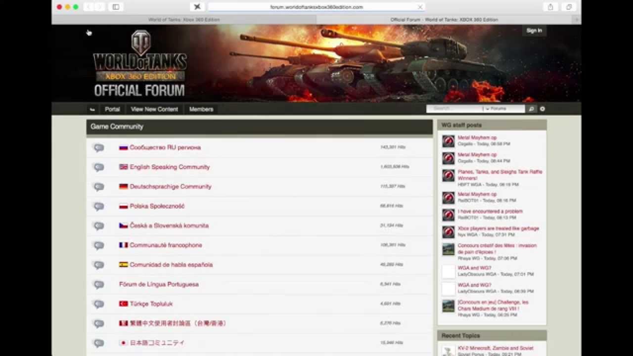 World of Tanks Xbox 360 Edition: Forum Adventures 1