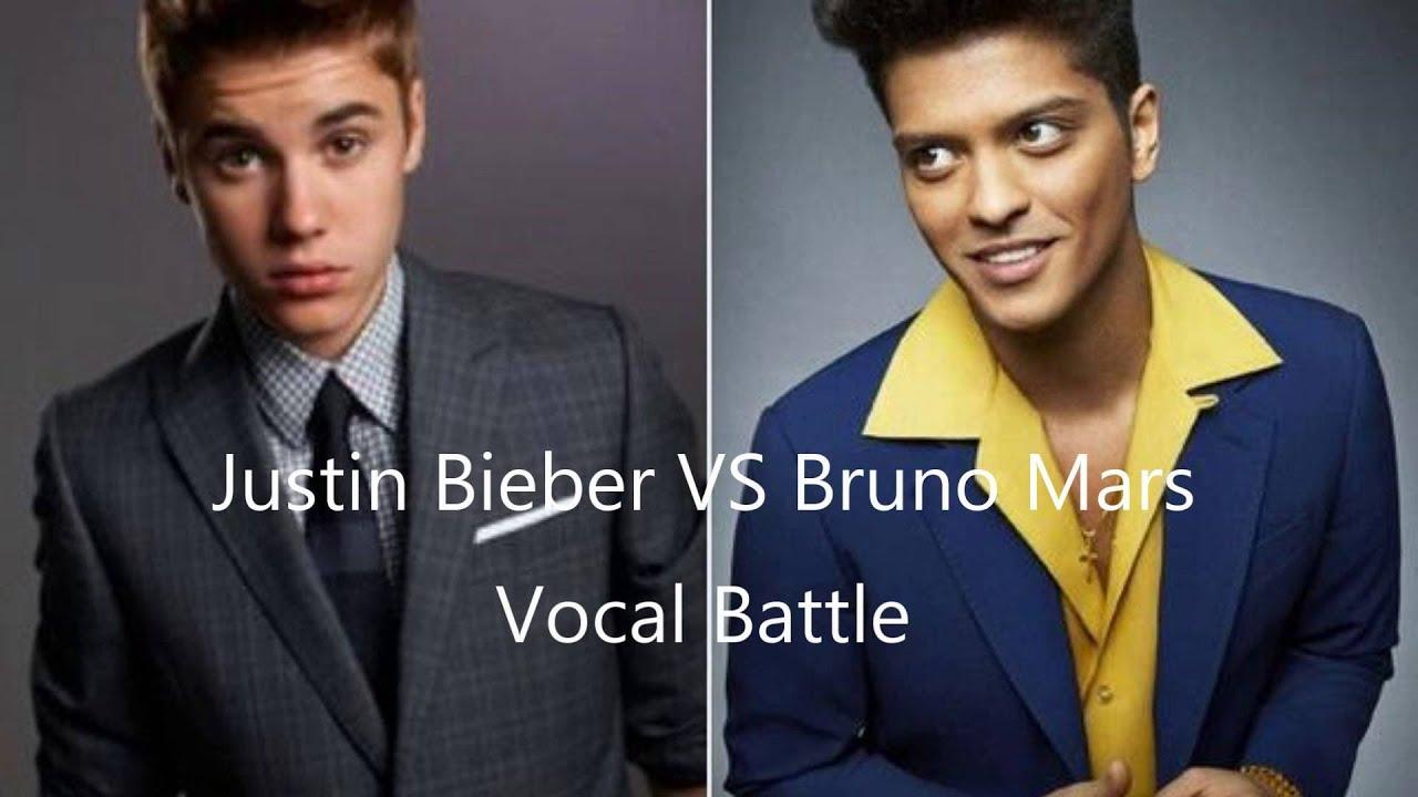 Bruno Mars And Justin Bieber Vocal Battle: J...