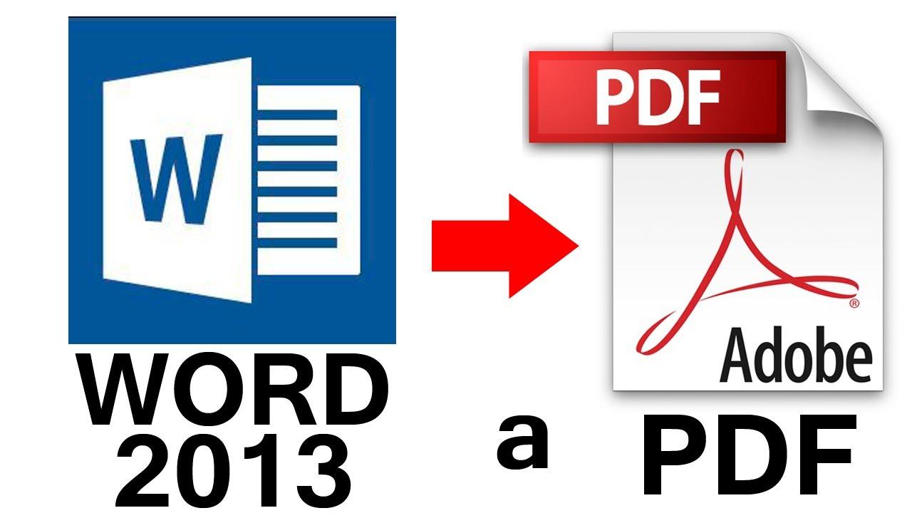 Como Convertir de Word 2013 a PDF en 1 minuto (Fácil y Sencillo ...