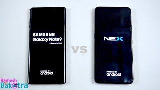 Galaxy Note 9 vs Vivo Nex SpeedTest and Camera Comparison