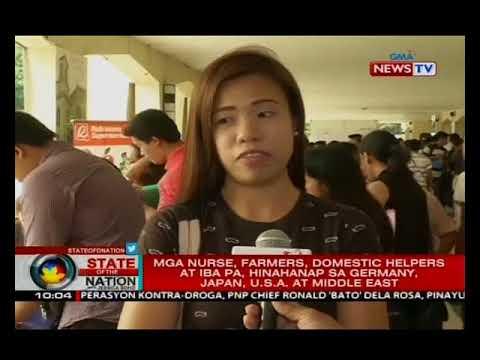 SONA: POEA, hinihikayat ang mga Pilipino na mag-apply sa mga trabaho abroad