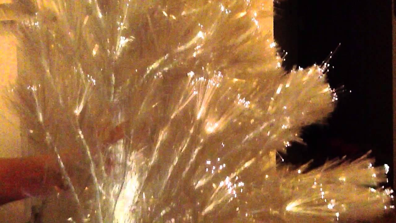 Rbol de navidad blanco de fibra ptica youtube - Arbol navidad blanco ...