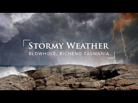 Wild Tasman sea showing her fury in Bicheno Tasmania June 2013