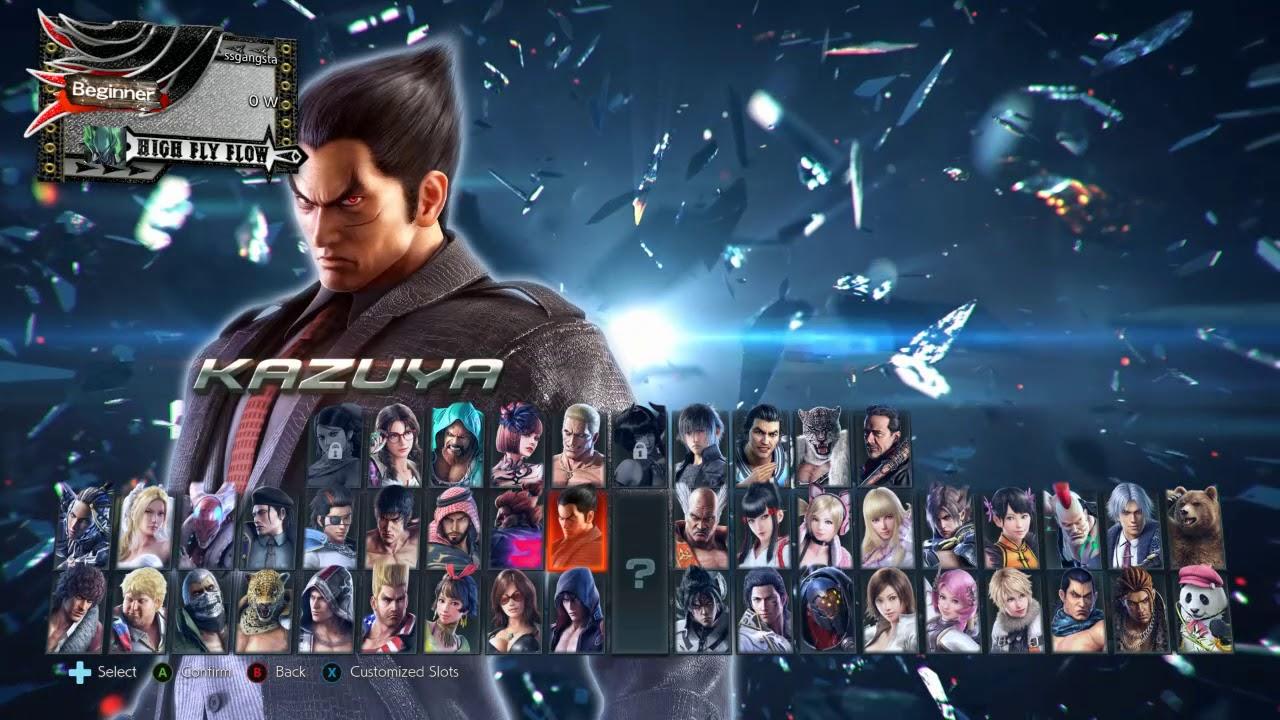 Tekken 7 Season 3 Character Select Extended Youtube