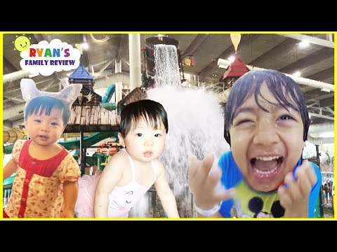 Twin baby's first vacation at Great Wolf Lodge Indoor Waterpark Playground for kids +Hotel Room Tour