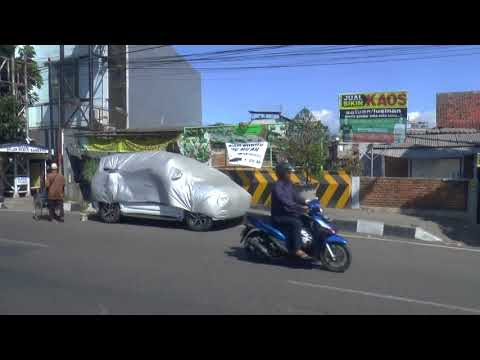 driving thru the streets of Bandung , Indonesia