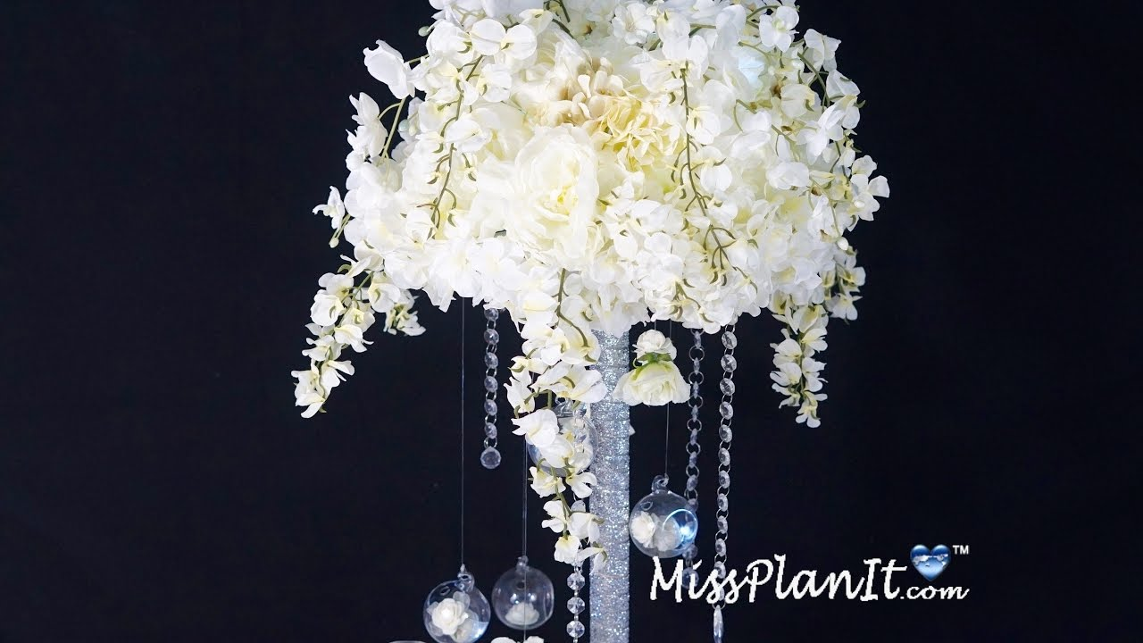 Star bright tall wedding centerpiece diy how to create