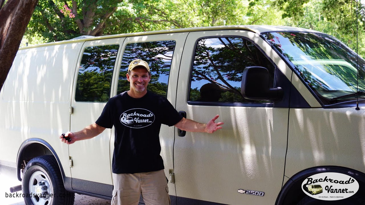 Van Life New Technology In Window Tint On Stealth Camper