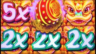 ★NEW SLOT! BIG WIN!★ MULTIPLIERS!! LION CARNIVAL & GREAT GUARDIANS Slot Machine Bonus (KONAMI)