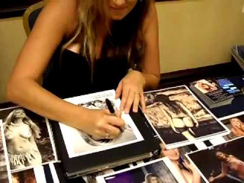 Playboy Playmate 8/94 Donna Perry autograph signing October 1, 2011